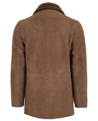 Manteau court en cuir effet daim RUFFO