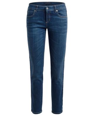 Tess velvet embellished slim fit jeans CAMBIO