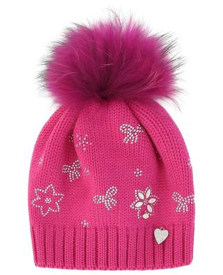 Crystal and fur embellished beanie IL TRENINO