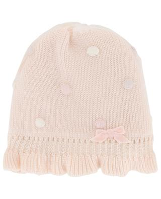 Woll and embroidered tulle beanie IL TRENINO