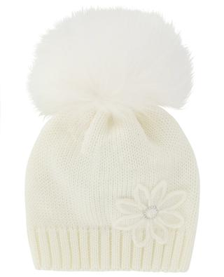 Blütenbestickte Mütze mit Pelz IL TRENINO
