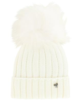 Mütze aus Wolle mit Pelz IL TRENINO