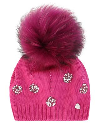 Strass-verzierte Mütze mit Pelz IL TRENINO