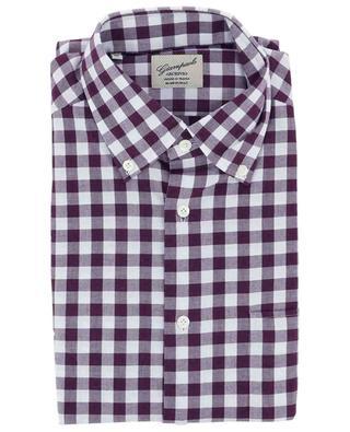 Hemd aus Baumwollflanell mit Vichy-Karos GIAMPAOLO