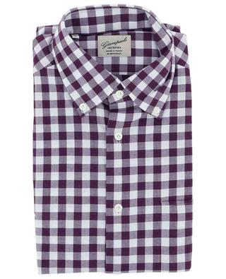 Gingham check cotton flannel shirt GIAMPAOLO