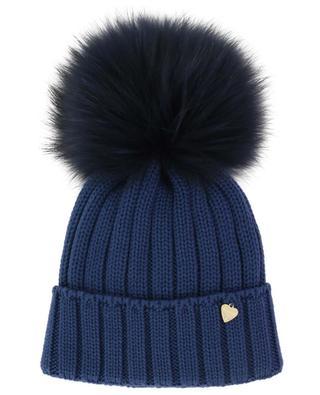 Fur pompon embellished wool beanie IL TRENINO