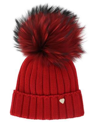 Bonnet en laine avec pompon en fourrure IL TRENINO