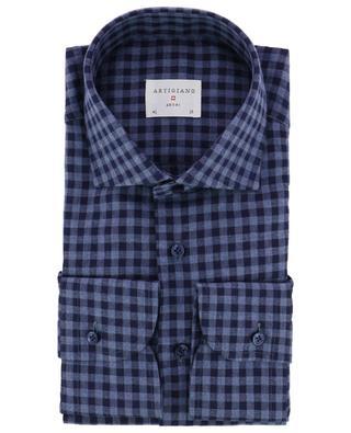 Chemise à carreaux en coton ARTIGIANO
