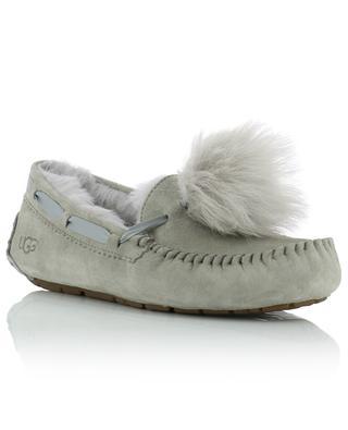 Dakota Pom Pom suede and shearling slippers UGG