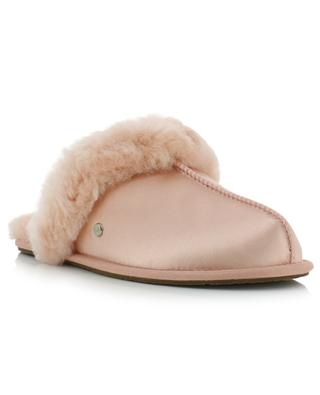 Scuffette satin and sheepskin slippers UGG