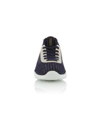 Sneakers im Lurex-Strick mit Monogramm TOD'S