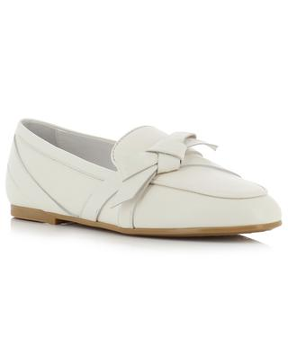 Logo bow detail leather loafers TOD'S