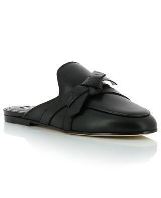 Leather mules with bow TOD'S