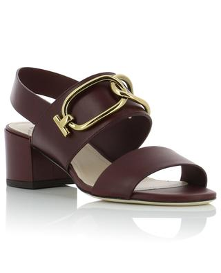 High heeled leather sandals TOD'S