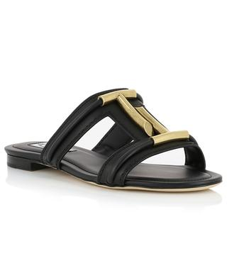 Double T flat leather sandals TOD'S