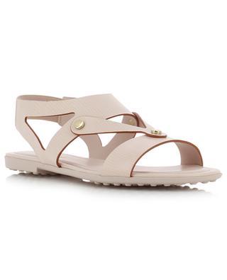 Sandales élastiquées en cuir texturé TOD'S