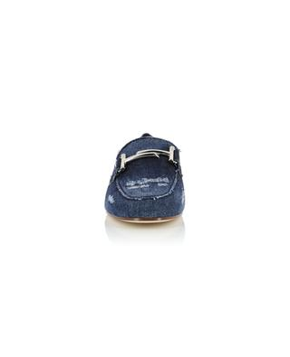 Double T used look denim loafers TOD'S