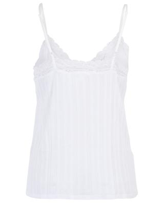 Cotton camisole with lace SKIN