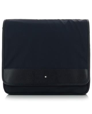 Sartorial Jet nylon and leather messenger flap bag MONTBLANC