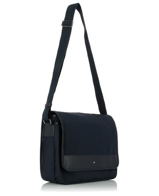 Sartorial Jet nylon and leather messenger flap bag MONTBLANC