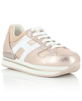 H222 metallic leather sneakers HOGAN