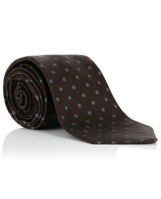 Cravate à pois en soie KITON