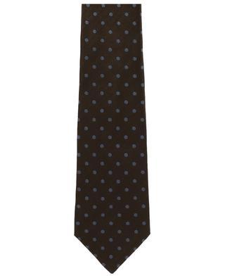 Dotted silk tie KITON