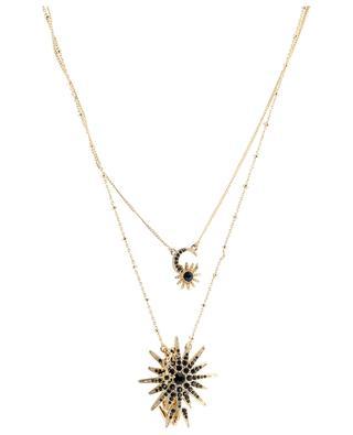 Mel Navy double stranded moon and star necklace HIPANEMA
