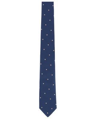 Krawatte aus Seide mit Tupfenprint LUIGI BORRELLI