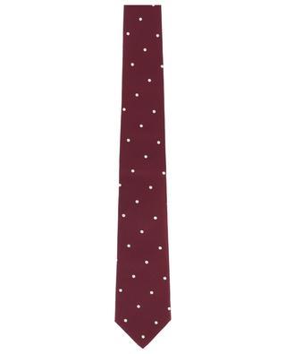 Cravate en soie à pois BORRELLI