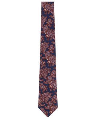 Printed silk tie LUIGI BORRELLI