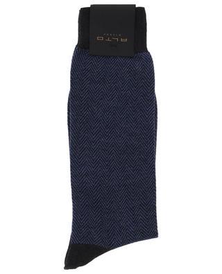 Socken aus Kaschmir und Baumwolle Brick ALTO