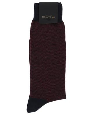 Brick cashmere and cotton socks ALTO
