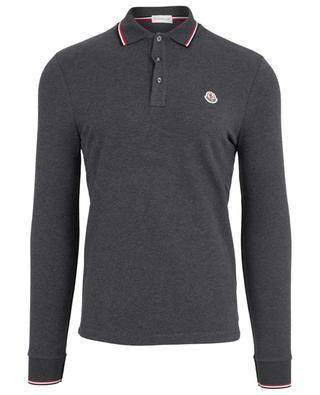 Long-sleeved cotton polo shirt MONCLER