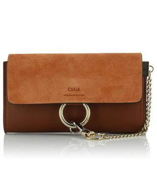 Faye leather and suede shoulder bag CHLOE