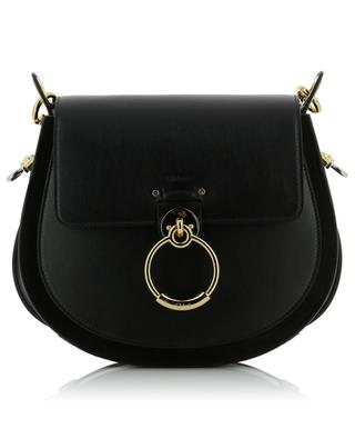 Tess leather and suede shoulder bag CHLOE