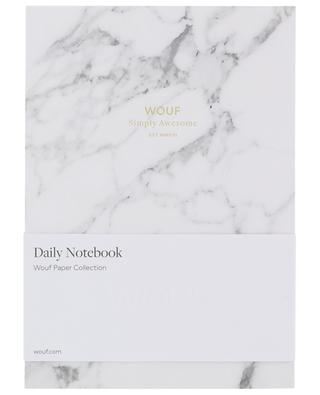 A5 White Marble notebook WOOUF
