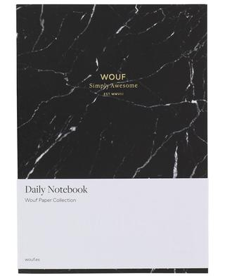 A5 Black Marble notebook WOOUF
