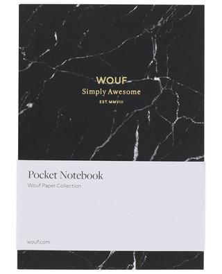 Black Marble A6 notebook WOOUF