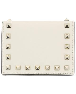 Compact Rockstud grained leather small wallet VALENTINO