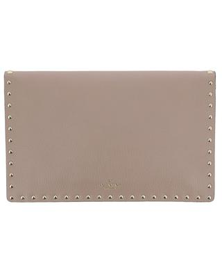 Rockstud grained leather clutch VALENTINO