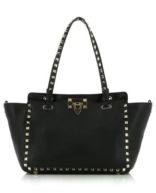 Rockstud grained leather tote bag VALENTINO