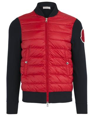 Bi-material zip up sweatshirt MONCLER