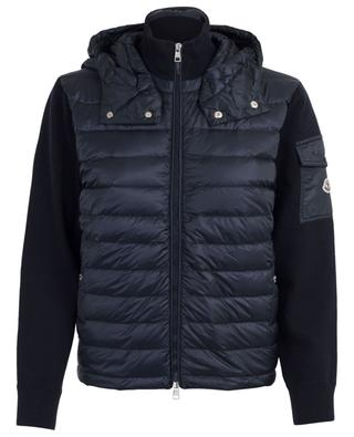 Wool cardigan with quilted yoke MONCLER ... ffe5c805584