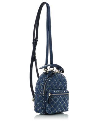 Mini-Rucksack aus Denim Rockstud Spike.It VALENTINO