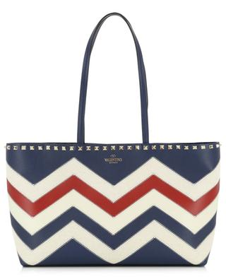 Rockstud Small chevron pattern tote bag VALENTINO