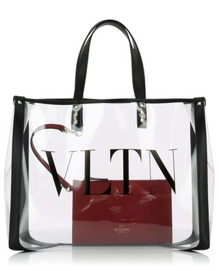 VLTN clear PVC shopping bag VALENTINO
