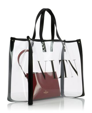 VLTN clear PVC shopping bag VALENTINO
