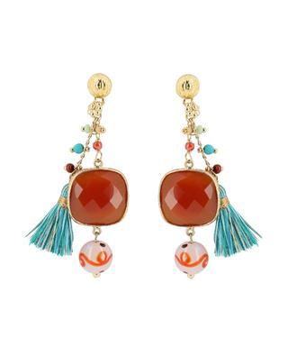 Pondichery gold plated earrings GAS BIJOUX
