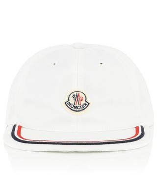Cotton baseball cap with tricolour stripe MONCLER